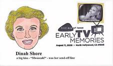 P M WAGNER HD/HP PMW CACHET FDC FIRST DAY COVER 2009 TV DINAH SHORE SHOW -AL