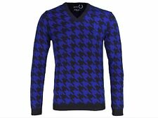 "NEW FRED PERRY RAF SIMONS HOUNDSTOOTH SWEATER JUMPER 36"" PRICE REDUCTION!"