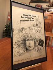 "BIG 11X17 FRAMED ORIGINAL TED NUGENT ""SCREAM DREAM"" LP ALBUM CD PROMO AD"