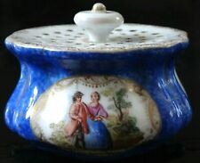 Rare porte cure dents porcelaine Meissen Old toothpick porcelain painted XIX