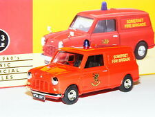 Vanguards VA14012 Austin Mini Van Somerset Fire Brigade 1/43