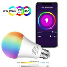Wifi Smart LED light Bulb 9W(60W) A19 850LM RGBW Dimmable for Alexa/Google Home