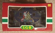 LGB  44653 Blue Merry Christmas Caboose with lights - G Scale