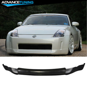 Fits 03-05 Nissan 350Z ING-S Style Front Bumper Lip Unpainted - PU