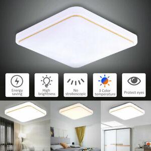 12/24/36W LED Ceiling Lights Panel Down Lights For Kitchen Bedroom Lamps UK