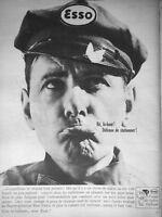 PUBLICITÉ PRESSE 1964 DÉFENSE DE STATIONNER ESSO AMI DE VOTRE VOITURE - PAPILLON