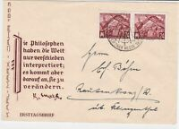 german democratic republic 1953 stamps cover ref 19216
