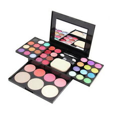 Make Up Palette Set Eyeshadow Lip Gloss Foundation Powder Blusher Puff Tool UL