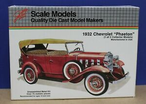 Ertl JLE 4002 1932 Chevy Phaeton Diecast Kit 1/20 Sealed Inside Ex Hubley