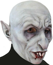 DELUXE EVIL VAMPIRE NOSFERATU SCARY LATEX MASK TV FILM OVERHEAD HALLOWEEN NEW
