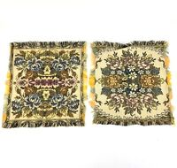 Vintage Tapestry Square / Rectangle Doily Set Lot Victorian Cottage Style 11""