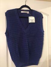 Sahara Club   Sweater Vest Blue Mens Size Small