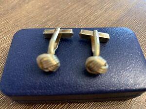 """1 Paar Manschettenknöpfe Design """"Knoten"""" 14kt 585 GG mit 13 Gramm Goldgewicht"""
