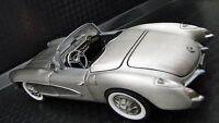 1 1957 Chevy Vette Corvette 43 Race Sport Car 18 Vintage 24 Carousel Silver 12