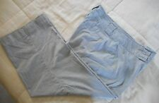 First Issue by Liz Claiborne Stretch Blue & White Pin Stripe Capris Sz 12