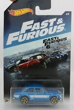 2017  Hot Wheels *FAST & FURIOUS* Blue '70 Ford Escourt *FAST FURIOUS 6* NIP!