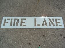 """12"""" Fire Lane Parking Lot Stencil 1/16"""" (.063""""), Ldpe Big Edges Easy To Read"""