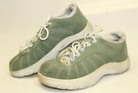 Oakley Womens 5.5 35.5 Green Suede Leather Sneakers Lace Up Athletic Shoes 96548