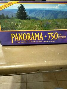 Panorama 750 Piece Jigsaw Puzzle Wallowa Oregon Over 3 Feet Wide 100% Complete
