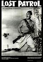 Lost Patrol ORIGINAL A1 Kinoplakat  John Ford / Boris Karloff / Victor McLaglen