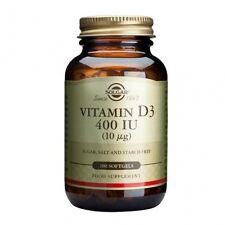 Solgar Vitamin D3 400 IU (10ug) Softgels 100