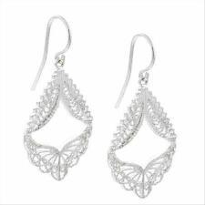 925 Silver Filigree Angel Wings Earrings
