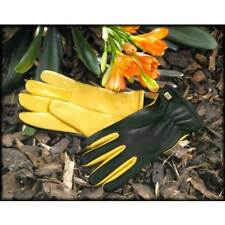 Gold Leaf LADIES Dry Touch Gloves.  WOMENS Leather Gardening Gloves