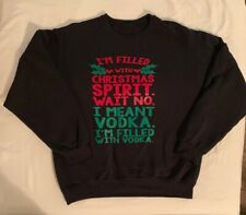Men's Funny Christmas Sweatshirt Ugly Sweater Size M/L GUC