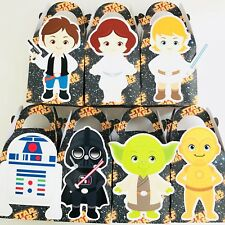 7x Star Wars Lolly Loot Bag Box Party Supplies Bunting Favour Cake Banner Game
