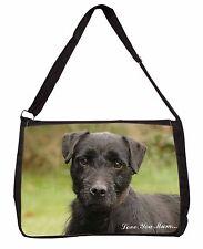 Fell Terrier Dog 'Love You Mum' Large Black Laptop Shoulder Bag Chr, AD-FT1lymSB