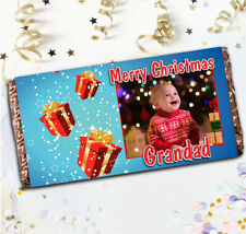 Personalised Merry Christmas Chocolate Bar N19 Girls Boys Stocking Filler Gift