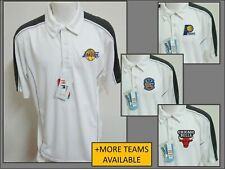 New Sz S-M White/Gray Nba Mens Polyester #B59 Golf Polo Shirt