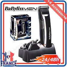 Tondeuse Sans Fil Cheveux Barbe Nez Poils Rasoir Homme Babyliss + 6 Accessoires