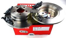 MINTEX REAR AXLE BRAKE SET DISCS, PADS FOR MG ROVER MDK0186 (REAL IMAGE OF PART)