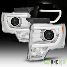 For 09-14 F150 Chrome Housing Light-Tube-DRL Projector Headlights