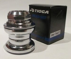 "Headset-Tioga Tange Bear Trap 2 headset for a 1"" threaded fork Race 26.4 NEW."