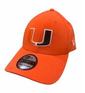 Miami Hurricanes New Era 39Thirty Team Classic Hat Orange S/M NEW!!