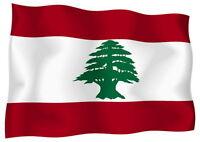 Sticker decal vinyl decals national flag car lebanon luggage ensign bumper