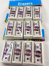 Lot of 36 $100 Bill Benjamin Franklin Money Cash Erasers School NEW