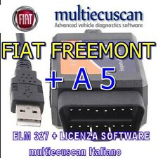 Multiecuscan ELM modificata CAN +software FIAT TIPO 500X JEEP A5 Service Proxy