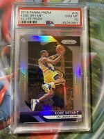 2018-19 Panini Silver Prizm #15 Kobe Bryant Los Angeles Lakers HOF PSA 10