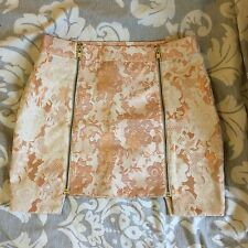 TopShop Rose Blanc Or Rose Mini jupe petite 4 6 8
