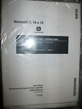 John Deere 7 10 15 Rimorchi Manuale Operatore 122295