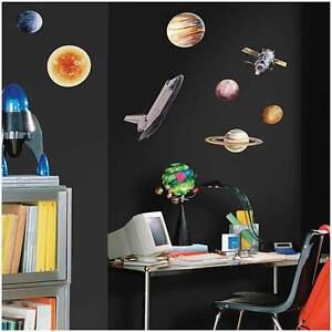 RoomMates Wandsticker Wandtattoo Planeten Weltall Weltraum Kinderzimmer Jungen