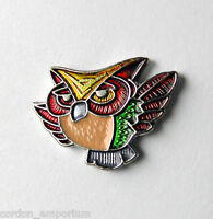 CUTE WISE OLD OWL COLORED LAPEL PIN BADGE 3/4 INCH