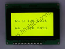 10pcs 64128 KS0107/KS0108 Graphic LCD Display Module LCM Yellow Green (93x70mm)