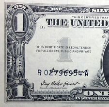 1957 $1 SILVER CERTIFICATE ✪ DOUBLE SIGNATURE ✪ 3RD PRINTING ERROR ◢TRUSTED◣