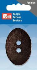 Kokos Knopf lackiert oval 50 x 35 mm dunkel braun 1 Stück Prym 318217 Knöpfe