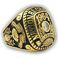 1964 Alabama Crimson Tide NCAA Football College Championship Ring, Custom Ring
