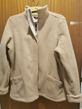 Ladies Fleece Jacket Marks and Spencers Size 16 Soft beige caramel BNWT RRP £29